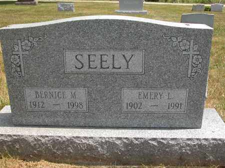 SEELY, EMERY L. - Union County, Ohio | EMERY L. SEELY - Ohio Gravestone Photos