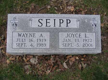 SEIPP, WAYNE A. - Union County, Ohio | WAYNE A. SEIPP - Ohio Gravestone Photos