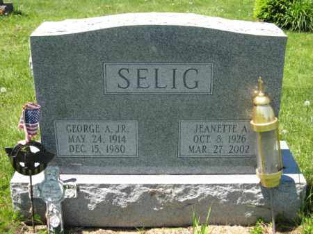SELIG, JEANETTE A. - Union County, Ohio | JEANETTE A. SELIG - Ohio Gravestone Photos