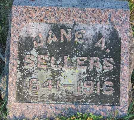 SELLERS, JANE A - Union County, Ohio | JANE A SELLERS - Ohio Gravestone Photos