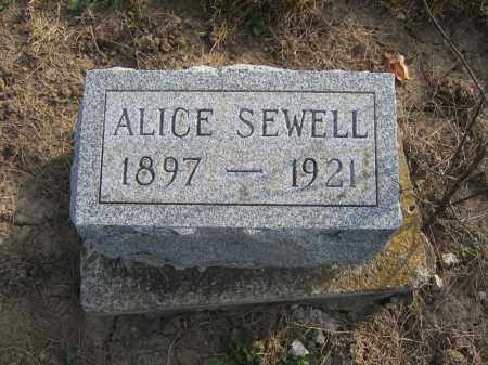 SEWELL, ALICE - Union County, Ohio | ALICE SEWELL - Ohio Gravestone Photos