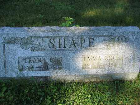SHAPE, EMMA COOK - Union County, Ohio | EMMA COOK SHAPE - Ohio Gravestone Photos