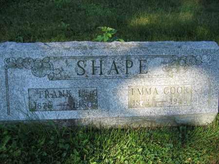 SHAPE, FRANK L. - Union County, Ohio | FRANK L. SHAPE - Ohio Gravestone Photos