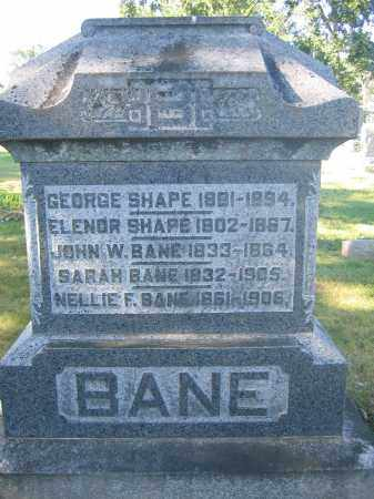 BANE, JOHN W. - Union County, Ohio | JOHN W. BANE - Ohio Gravestone Photos