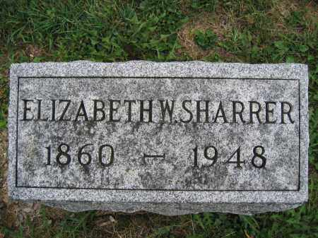 SHARRER, ELIZABETH W. - Union County, Ohio | ELIZABETH W. SHARRER - Ohio Gravestone Photos