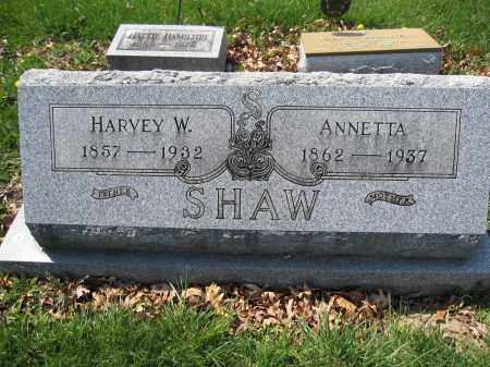 SHAW, HARVEY W. - Union County, Ohio | HARVEY W. SHAW - Ohio Gravestone Photos