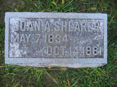 SHEARER, JOAN A. - Union County, Ohio | JOAN A. SHEARER - Ohio Gravestone Photos