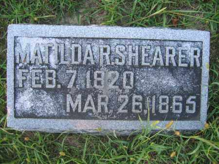 SHEARER, MATILDA R. - Union County, Ohio | MATILDA R. SHEARER - Ohio Gravestone Photos