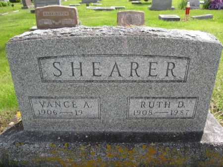 SHEARER, VANCE A. - Union County, Ohio | VANCE A. SHEARER - Ohio Gravestone Photos