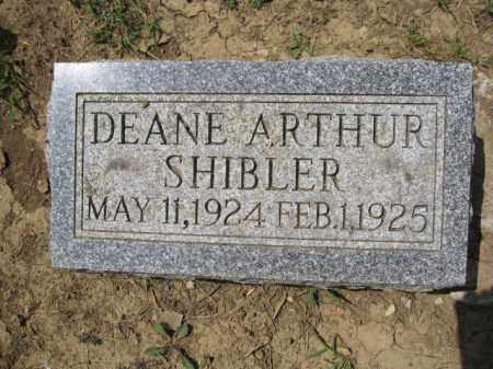 SHIBLER, DEANE ARTHUR - Union County, Ohio | DEANE ARTHUR SHIBLER - Ohio Gravestone Photos