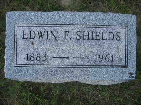 SHIELDS, EDWIN F. - Union County, Ohio | EDWIN F. SHIELDS - Ohio Gravestone Photos