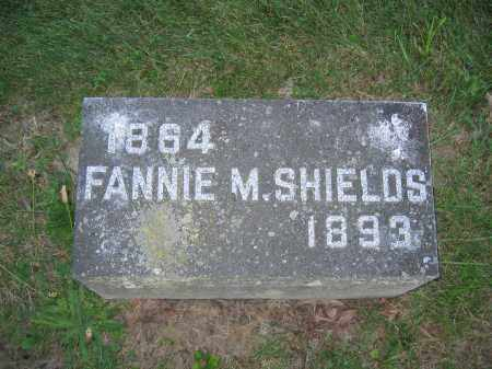 SHIELDS, FANNIE M. - Union County, Ohio | FANNIE M. SHIELDS - Ohio Gravestone Photos