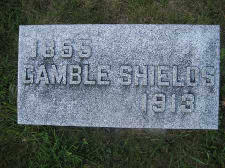 SHIELDS, GAMBLE - Union County, Ohio | GAMBLE SHIELDS - Ohio Gravestone Photos