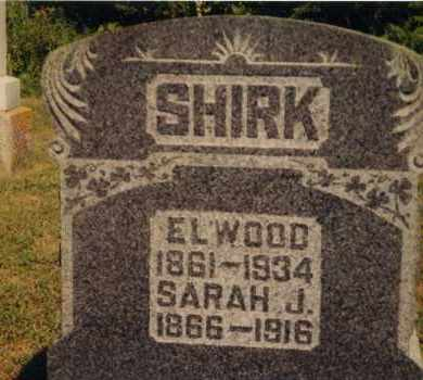 SHIRK, SARAH J BRAKE - Union County, Ohio | SARAH J BRAKE SHIRK - Ohio Gravestone Photos