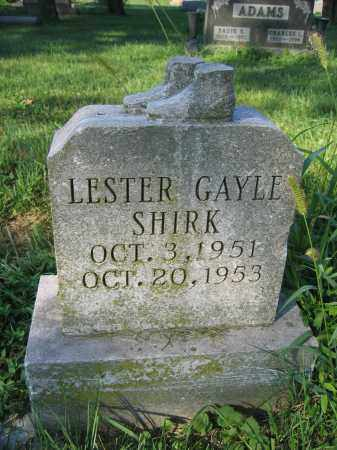 SHIRK, LESTER GAYLE - Union County, Ohio | LESTER GAYLE SHIRK - Ohio Gravestone Photos