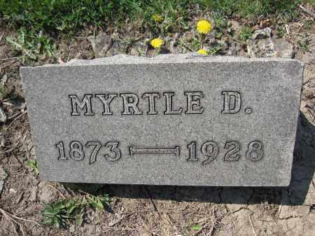 SHIRK, MYRTLE D. - Union County, Ohio | MYRTLE D. SHIRK - Ohio Gravestone Photos
