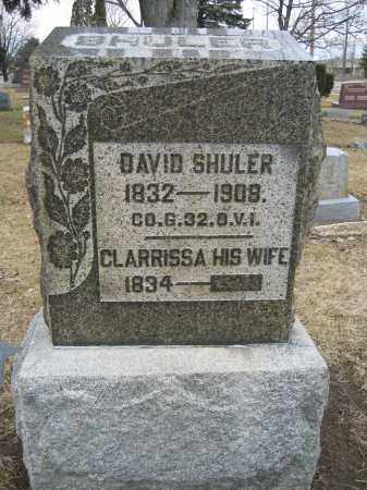 SHULER, DAVID - Union County, Ohio | DAVID SHULER - Ohio Gravestone Photos