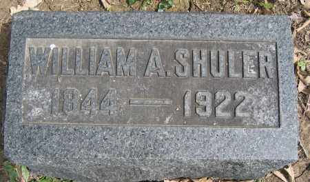 SHULER, WILLIAM A. - Union County, Ohio | WILLIAM A. SHULER - Ohio Gravestone Photos
