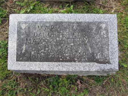 SHUMAN, MARY JO - Union County, Ohio | MARY JO SHUMAN - Ohio Gravestone Photos
