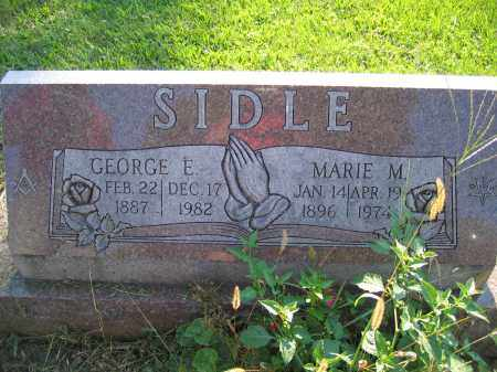 SIDLE, GEORGE E. - Union County, Ohio | GEORGE E. SIDLE - Ohio Gravestone Photos