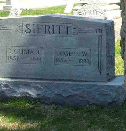 SIFRITT, COLISTA J - Union County, Ohio | COLISTA J SIFRITT - Ohio Gravestone Photos