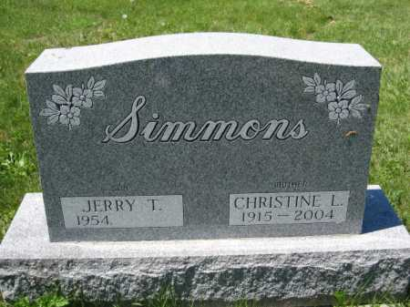 SIMMONS, JERRY T - Union County, Ohio | JERRY T SIMMONS - Ohio Gravestone Photos