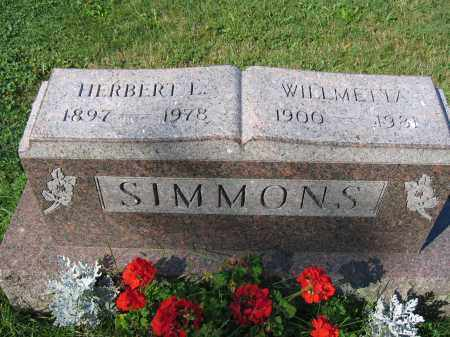 SIMMONS, WILLMETTA - Union County, Ohio | WILLMETTA SIMMONS - Ohio Gravestone Photos