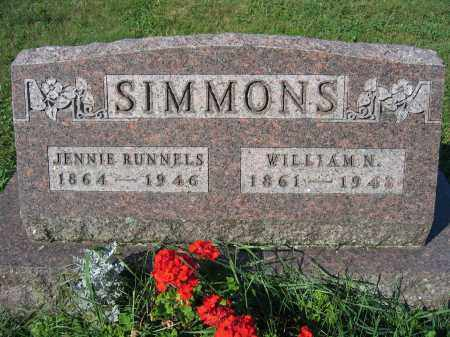 SIMMONS, JENNIE RUNNELS - Union County, Ohio | JENNIE RUNNELS SIMMONS - Ohio Gravestone Photos