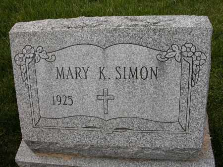 SIMON, MARY K - Union County, Ohio | MARY K SIMON - Ohio Gravestone Photos