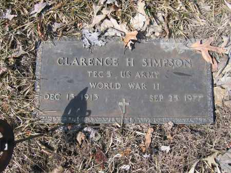 SIMPSON, CLARENCE H. - Union County, Ohio | CLARENCE H. SIMPSON - Ohio Gravestone Photos