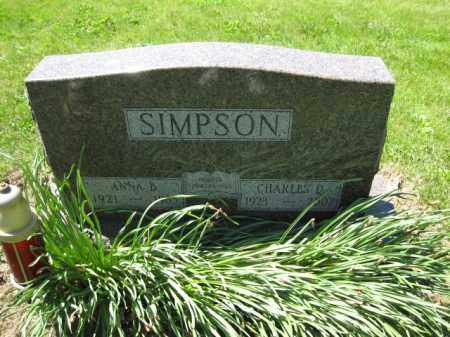SIMPSON, ANNA B. - Union County, Ohio | ANNA B. SIMPSON - Ohio Gravestone Photos