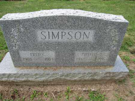 SIMPSON, FRED C. - Union County, Ohio | FRED C. SIMPSON - Ohio Gravestone Photos