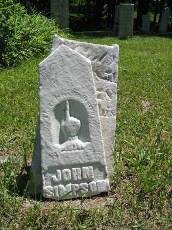 SIMPSON, JOHN - Union County, Ohio | JOHN SIMPSON - Ohio Gravestone Photos
