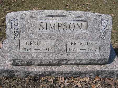 SIMPSON, ORRIE - Union County, Ohio | ORRIE SIMPSON - Ohio Gravestone Photos