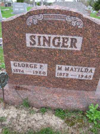 SINGER, M. MATILDA - Union County, Ohio | M. MATILDA SINGER - Ohio Gravestone Photos
