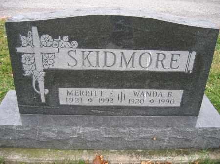SKIDMORE, MERRITT E. - Union County, Ohio | MERRITT E. SKIDMORE - Ohio Gravestone Photos