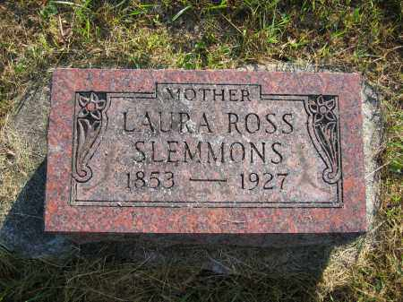 SLEMMONS, LAURA ROSS - Union County, Ohio | LAURA ROSS SLEMMONS - Ohio Gravestone Photos