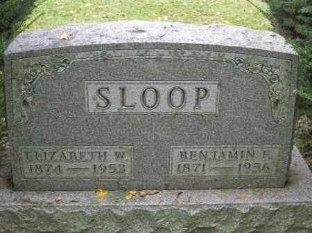SLOOP, ELIZABETH W. - Union County, Ohio | ELIZABETH W. SLOOP - Ohio Gravestone Photos