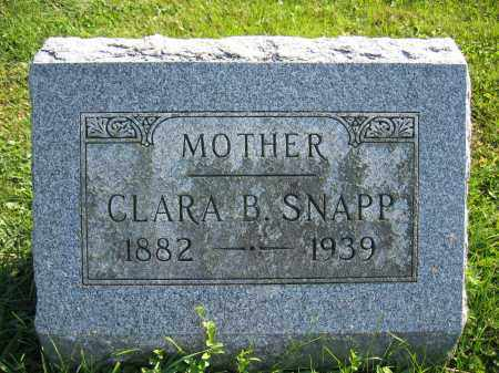 SNAPP, CLARA B. - Union County, Ohio | CLARA B. SNAPP - Ohio Gravestone Photos