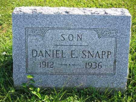 SNAPP, DANIEL E. - Union County, Ohio | DANIEL E. SNAPP - Ohio Gravestone Photos