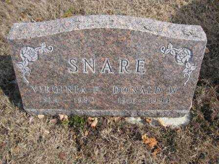 SNARE, DONALD W. - Union County, Ohio | DONALD W. SNARE - Ohio Gravestone Photos