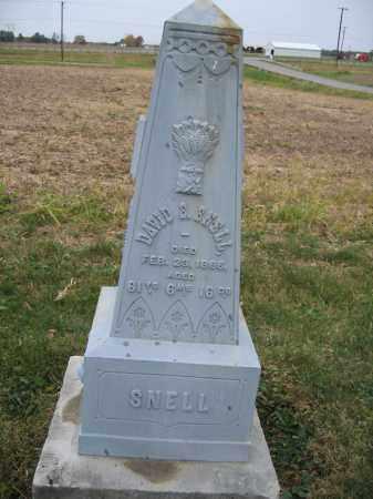 SNELL, DAVID S. - Union County, Ohio | DAVID S. SNELL - Ohio Gravestone Photos