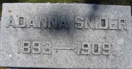 SNIDER, ADANNA - Union County, Ohio | ADANNA SNIDER - Ohio Gravestone Photos