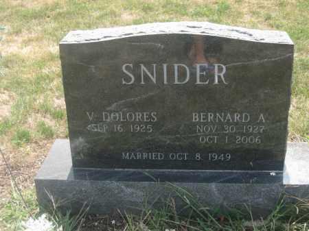 SNIDER, BERNARD A. - Union County, Ohio | BERNARD A. SNIDER - Ohio Gravestone Photos