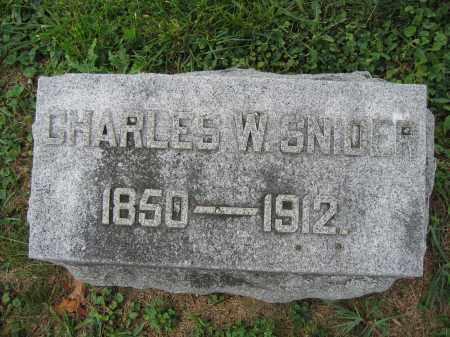 SNIDER, CHARLES W. - Union County, Ohio | CHARLES W. SNIDER - Ohio Gravestone Photos