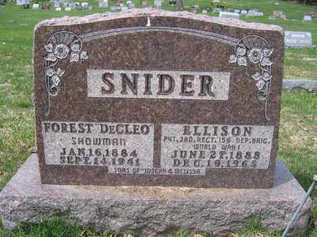 SNIDER, ELLISON - Union County, Ohio | ELLISON SNIDER - Ohio Gravestone Photos