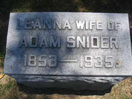 SNIDER, LEANNA - Union County, Ohio | LEANNA SNIDER - Ohio Gravestone Photos