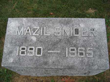 SNIDER, MAZIL - Union County, Ohio | MAZIL SNIDER - Ohio Gravestone Photos