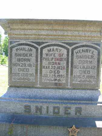 SNIDER, PHILIP - Union County, Ohio | PHILIP SNIDER - Ohio Gravestone Photos