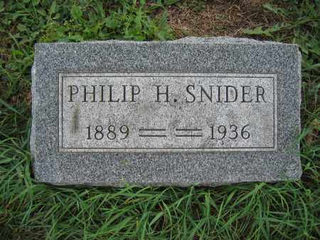 SNIDER, PHILIP H. - Union County, Ohio | PHILIP H. SNIDER - Ohio Gravestone Photos